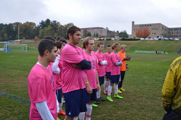 2014 St. Thomas Soccer Pink Game vs Manchester West