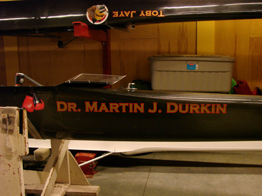 Boston University Boat Lettering