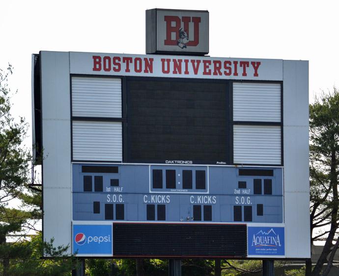 Boston university Nickerson Field Scoreboard