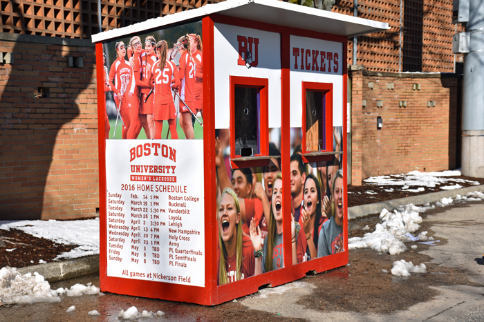 BU Nickerson field ticket Booths