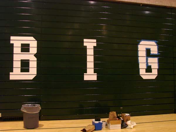 Dartmouth College Leede Arena Bleacher Painting