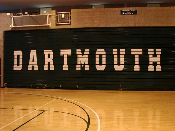 Dartmouth College Leede Arena bleacher letters