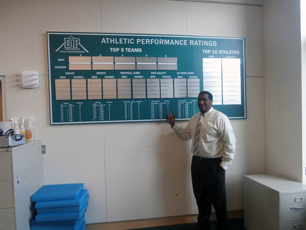 Donnie Brooks with new Performance Ratings board