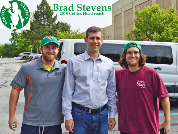 Jason & Ross suleski with Celtics Coach Brad Stevens