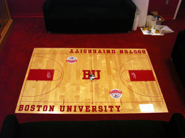 BU Men's Basketball Mini Court