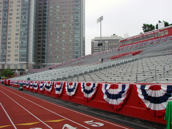 SD&S BU Bunting install at Nickerson Field