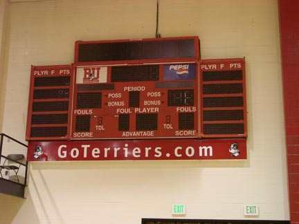 BU Roof Gym Scoreboard