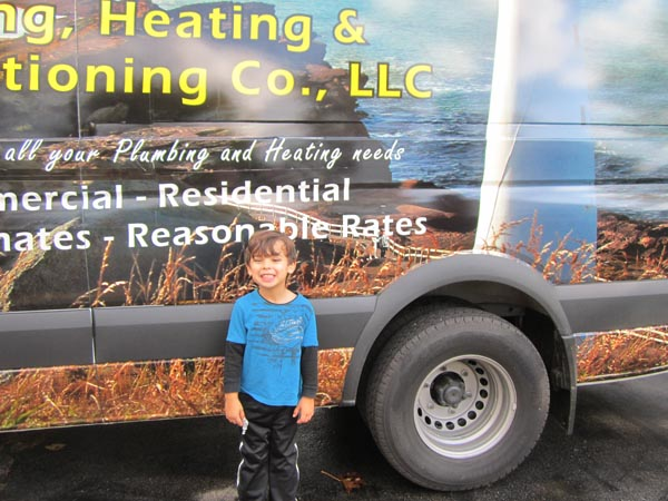 Lighthouse Plumbing Heating and Air Conditioning van wrap