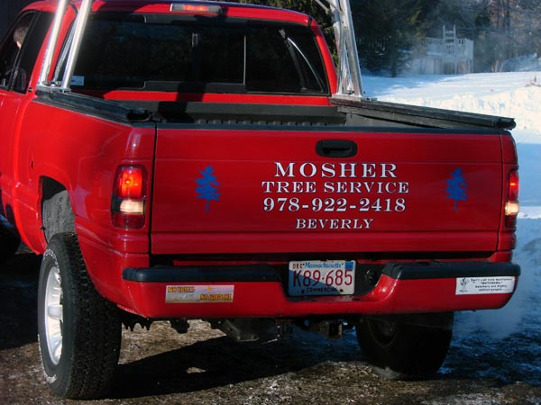 Mosher Tree pick up truck graphics
