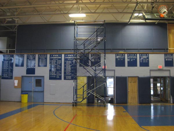 STA gym wall painted