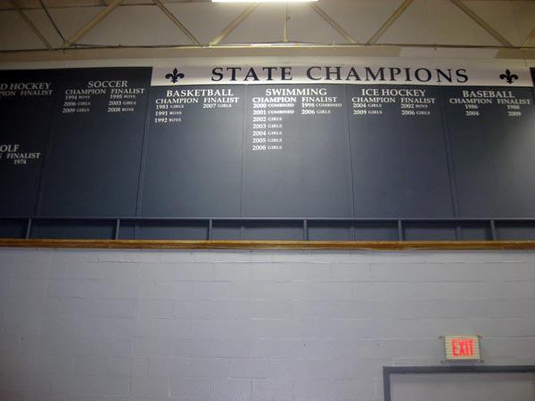 STA champions wall team section