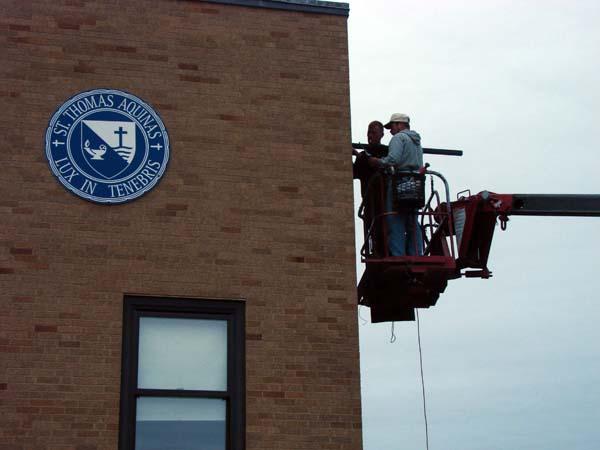 Installation of Building Banner Brackets