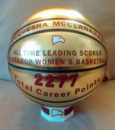 "Smith College Gold Award NBasketball in ""Equator"" Position"