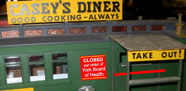 Casey's Diner Closed by York Board of Health